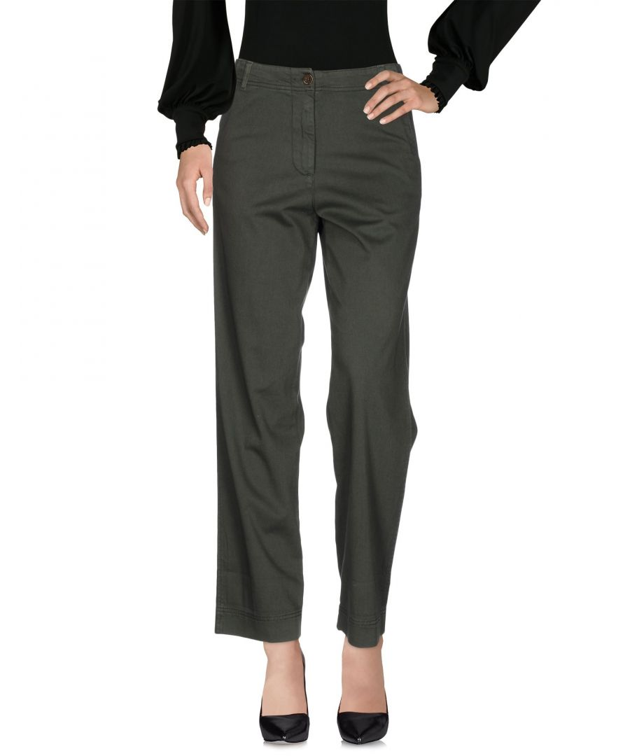 Image for Pinko Dark Green Cotton Trousers