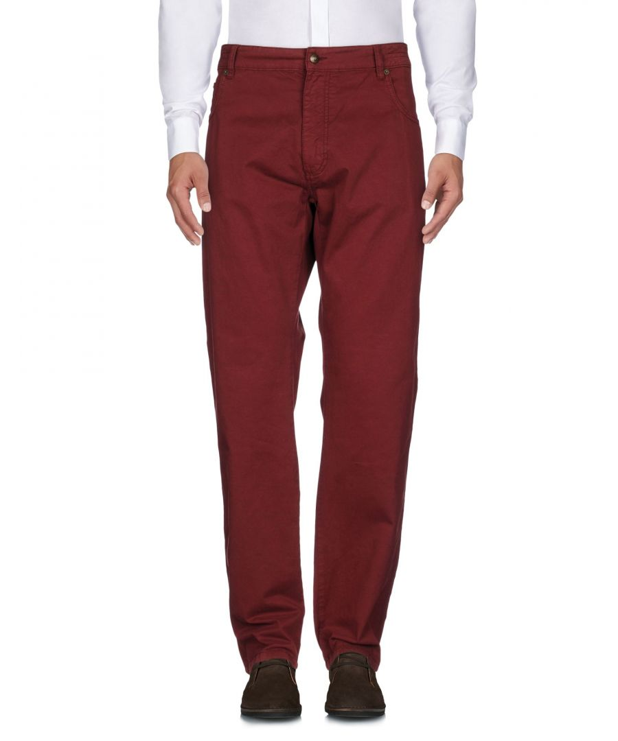 Image for Hackett London Brown Cotton Straight Leg Trousers