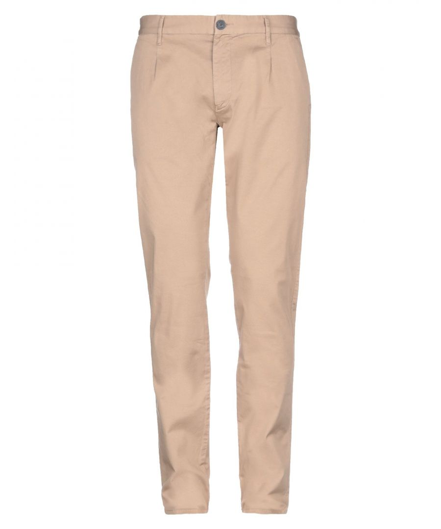 Image for Armani Jeans Beige Cotton Tapered Leg Trousers