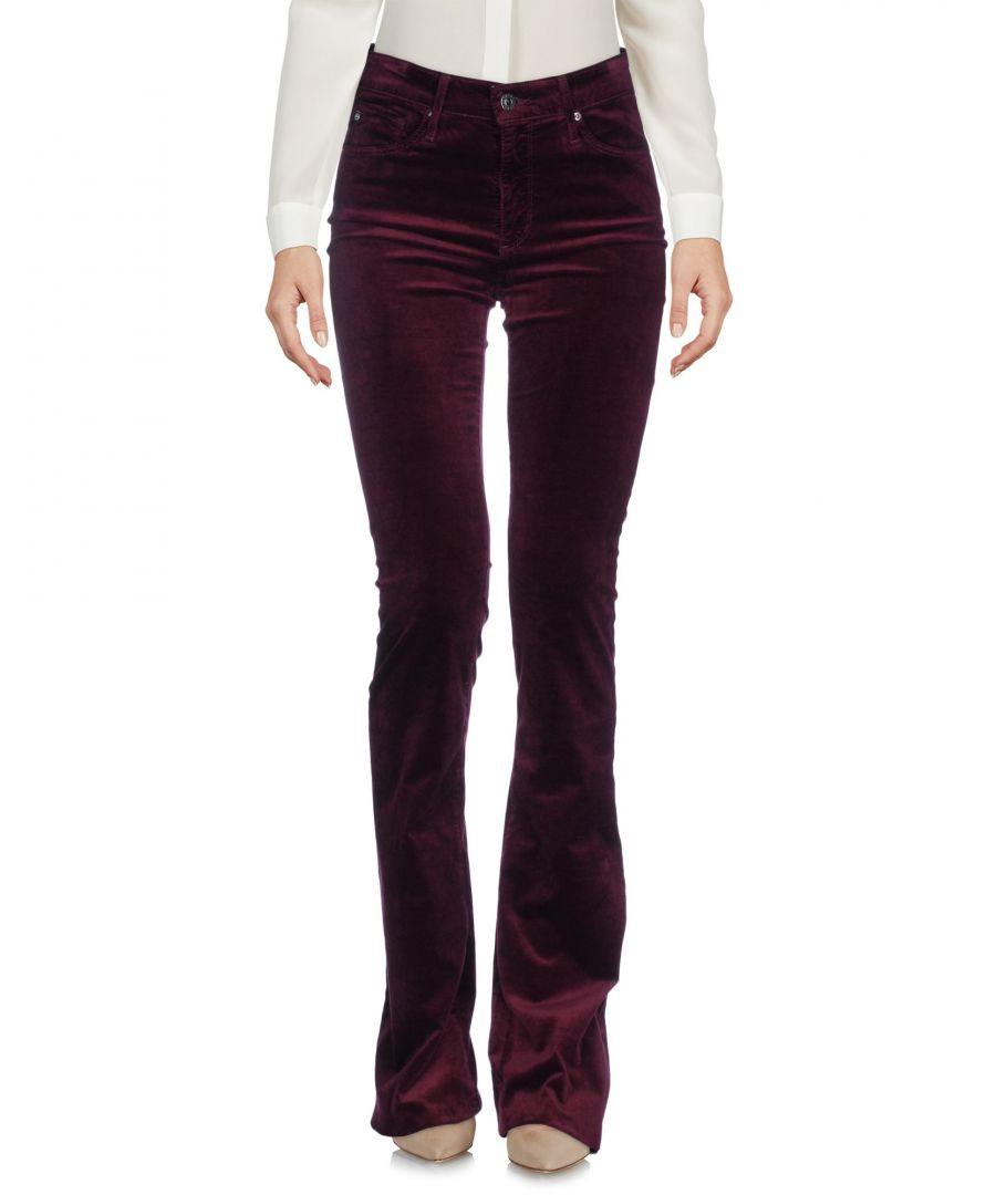 Image for Ag Jeans Deep Purple Velvet Trousers