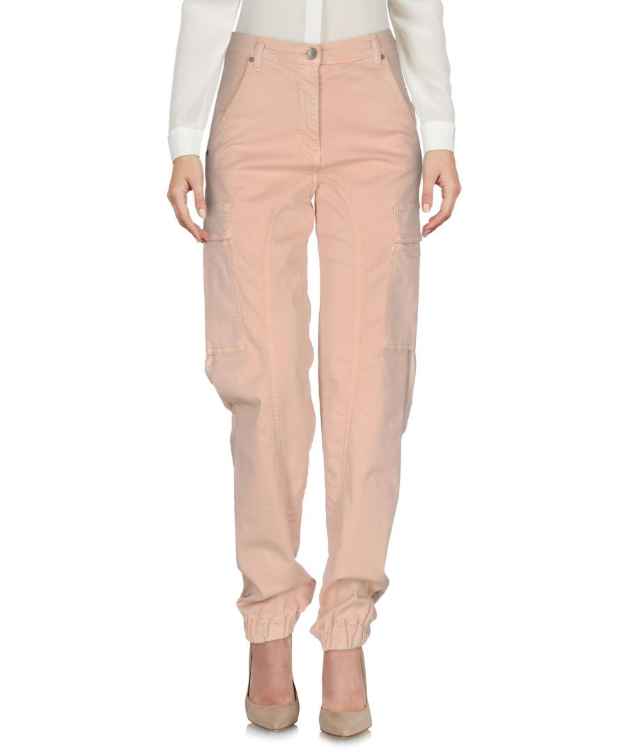 Image for Twinset Pale Pink Cotton Wide Leg Trousers
