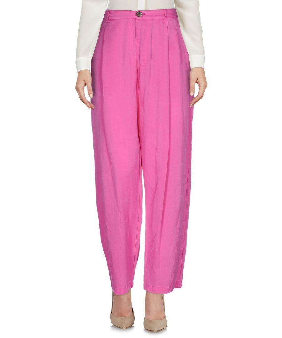 Image for Gerard Fuchsia Cotton Wide Leg Trousers
