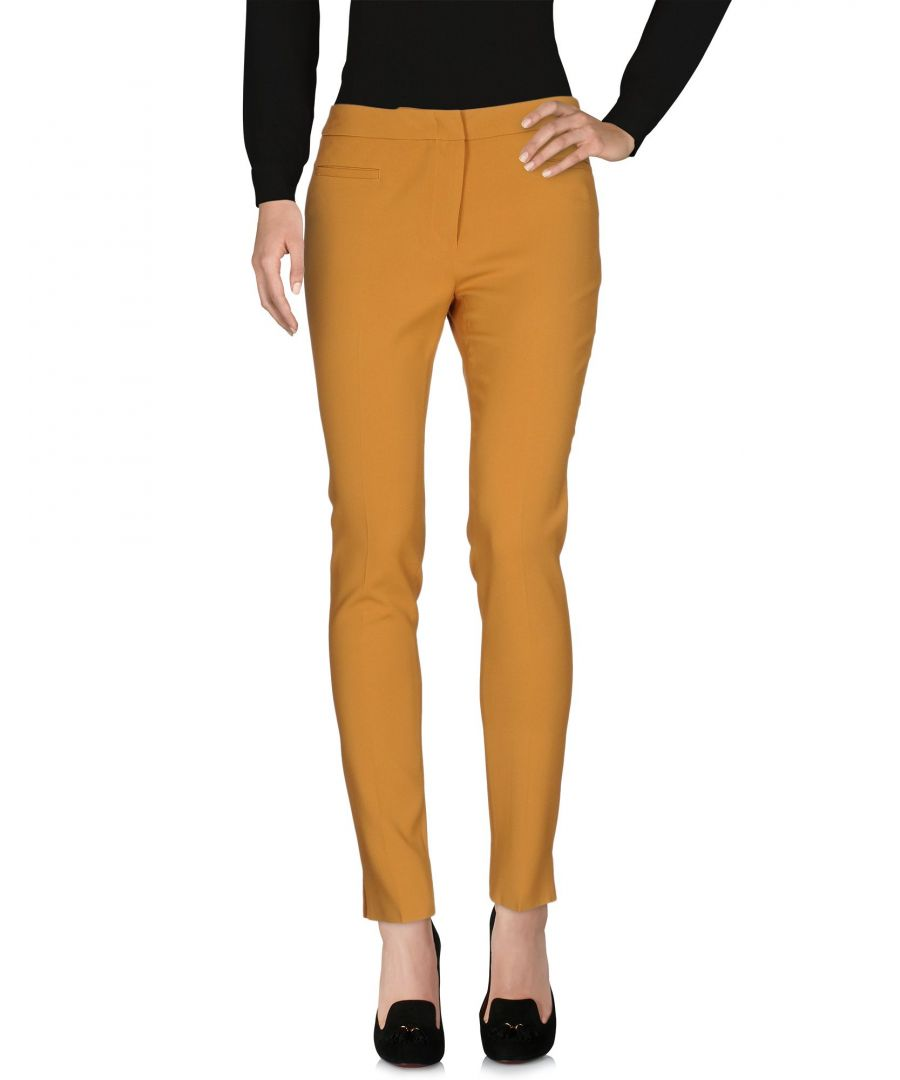 Image for L' Autre Chose Ochre Crepe Tailored Tapered Leg Trousers