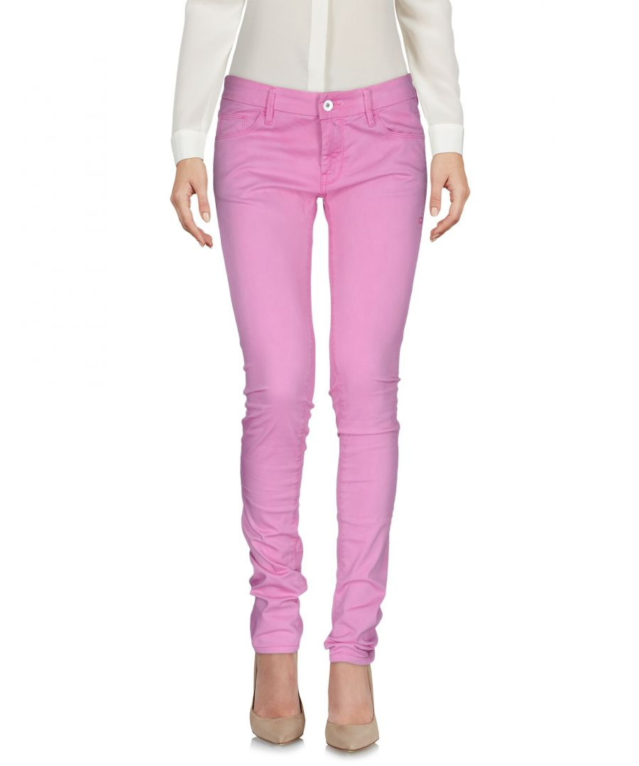 Image for Calvin Klein Jeans Pink Cotton Slim Trousers