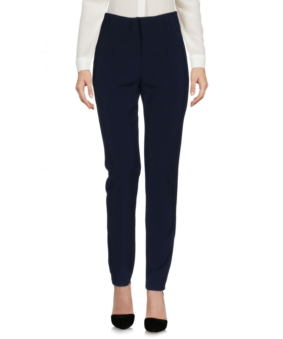 Image for Kaos Dark Blue Crepe Straight Leg Trousers