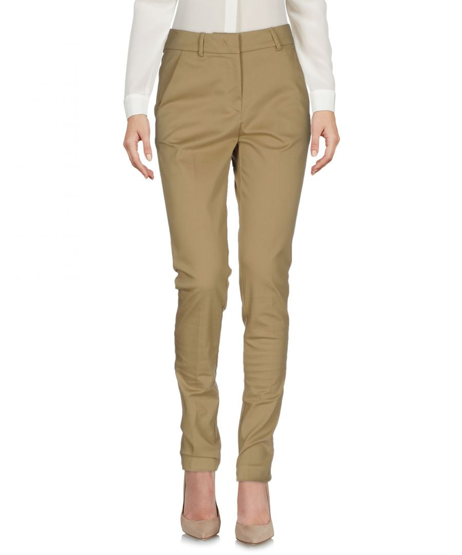 Image for Aglini Sand Cotton High Waisted Trousers