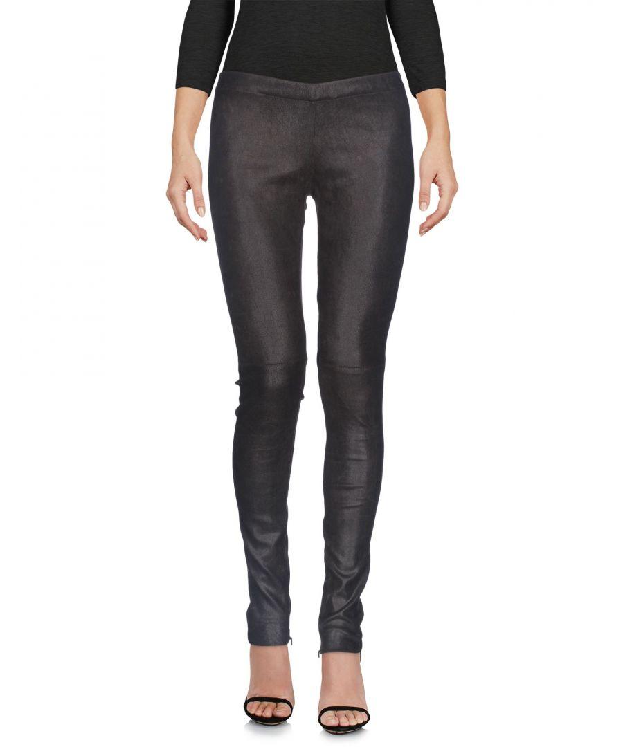 Image for Gentryportofino Dark Brown Lambskin Trousers