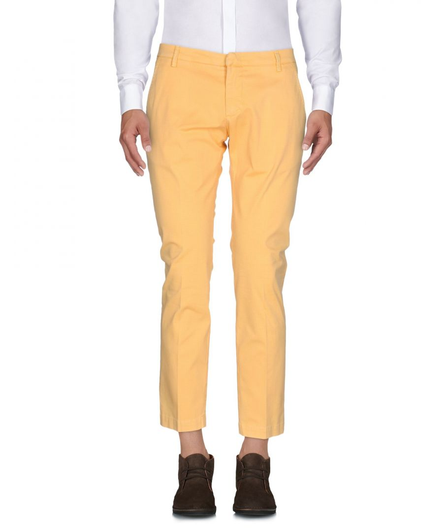 Image for Michael Coal Yellow Cotton Trousers