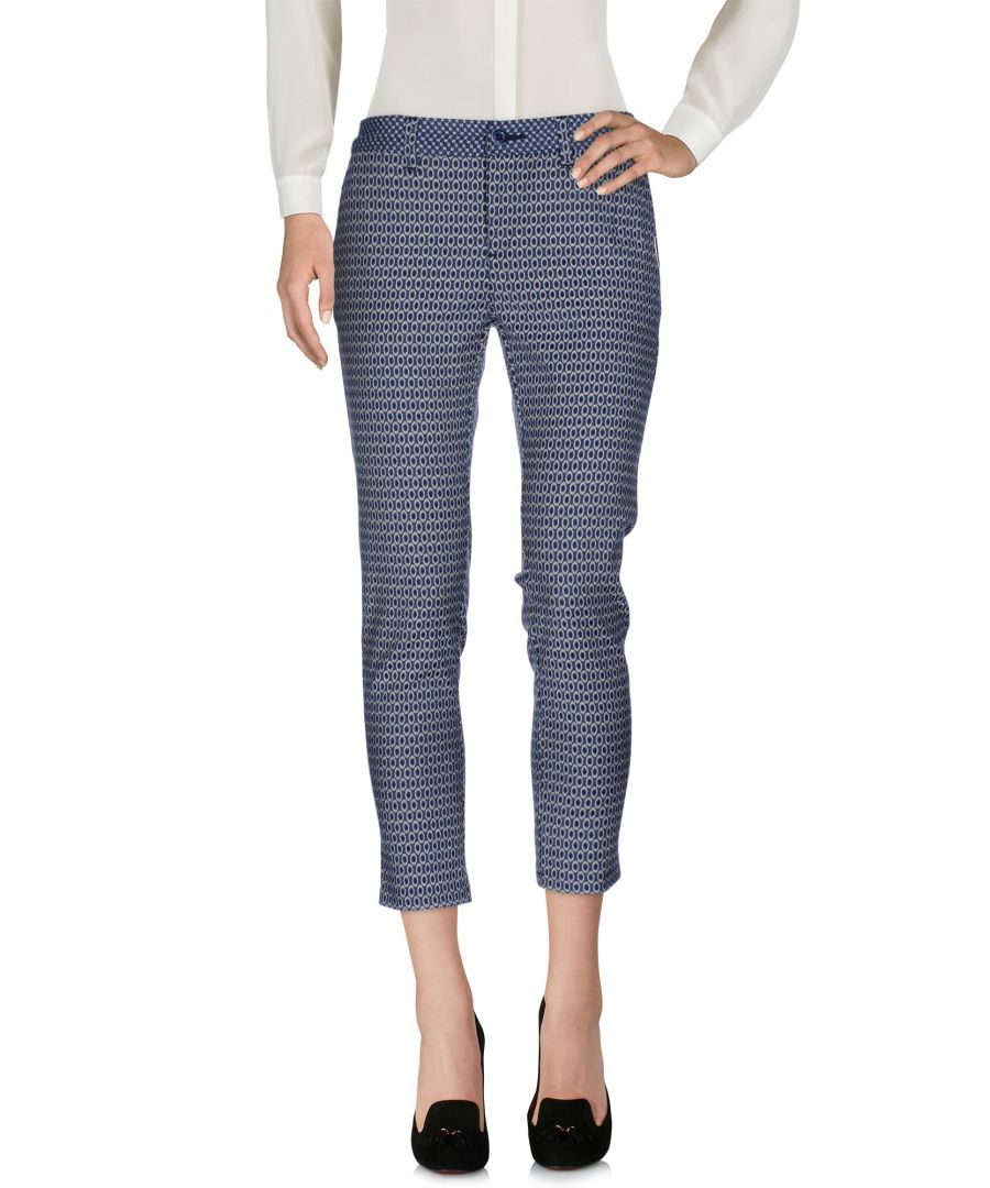 Image for Cafenoir Blue Cropped Trousers