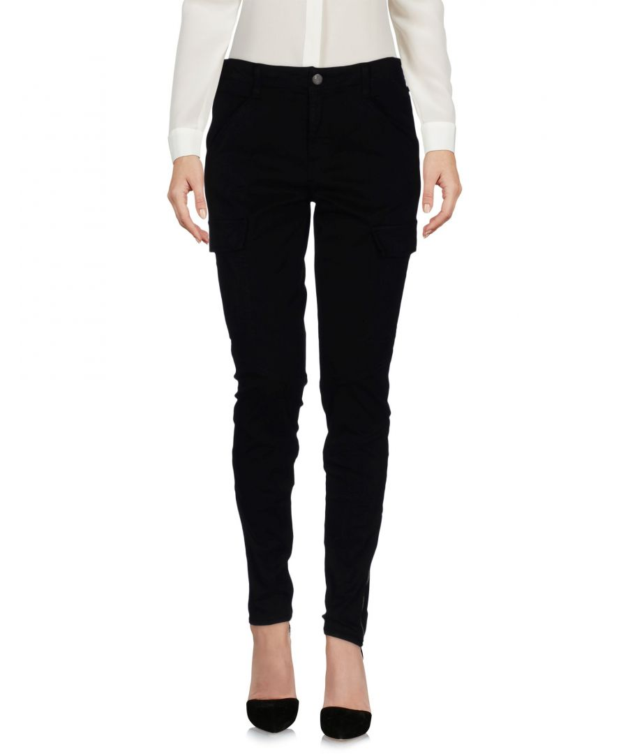 Image for J Brand Black Cotton Tapered Leg Trousers