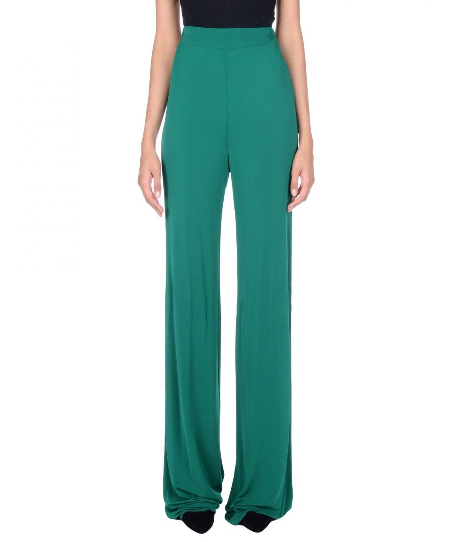 Image for Plein Sud Green Jersey Wide Leg Trousers