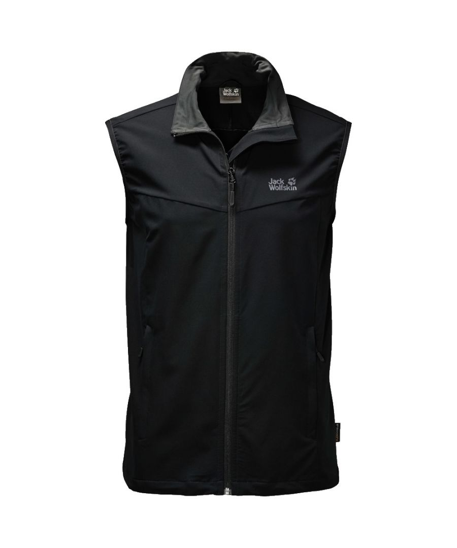 Image for Jack Wolfskin Activate Mens Softshell Gilet Black