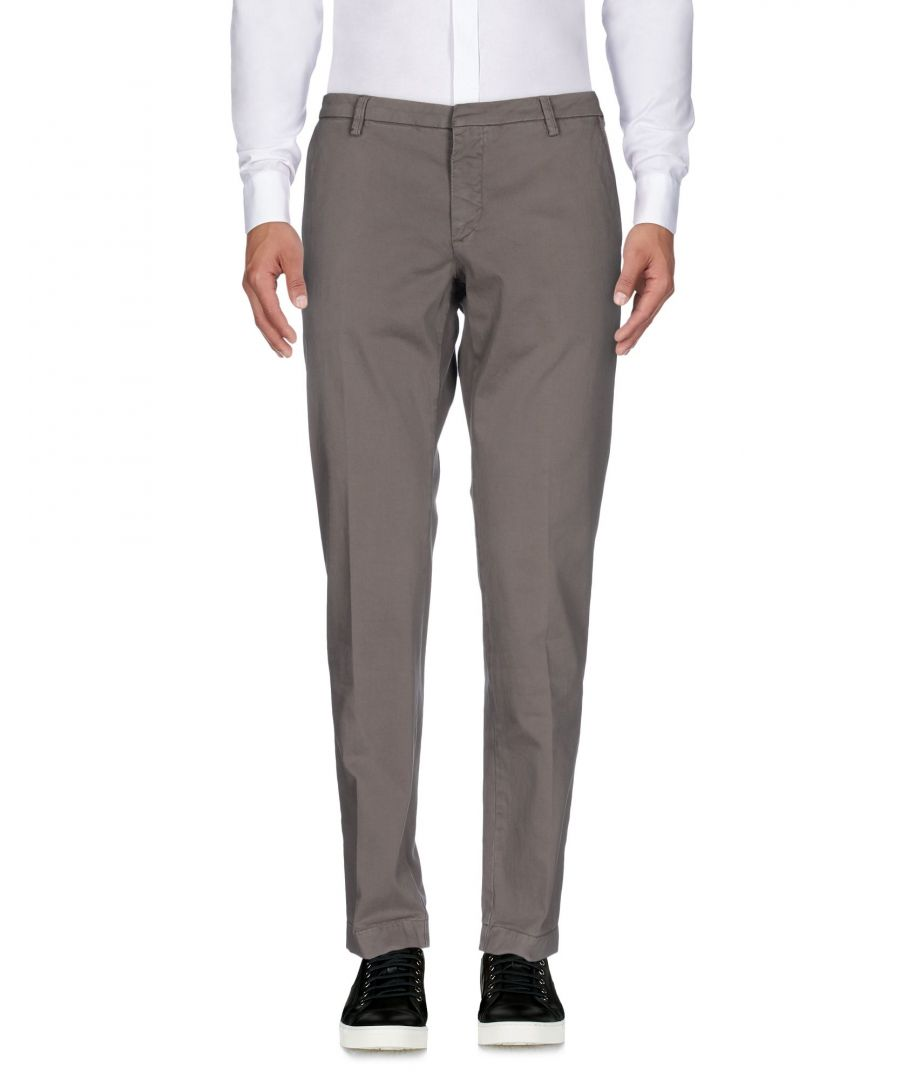 Image for Michael Coal Dove Grey Cotton Trousers