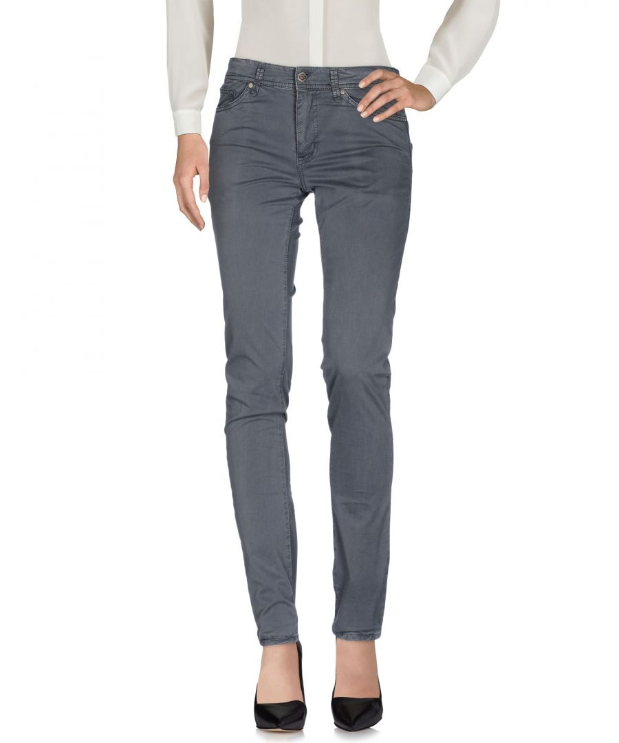 Image for Liu Jo Grey Cotton Trousers
