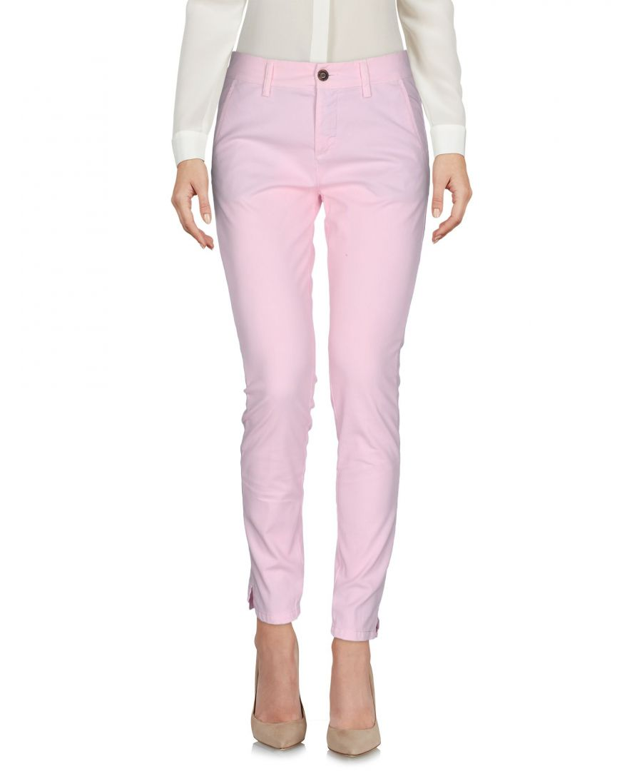 Image for True Nyc Pink Cotton Trousers