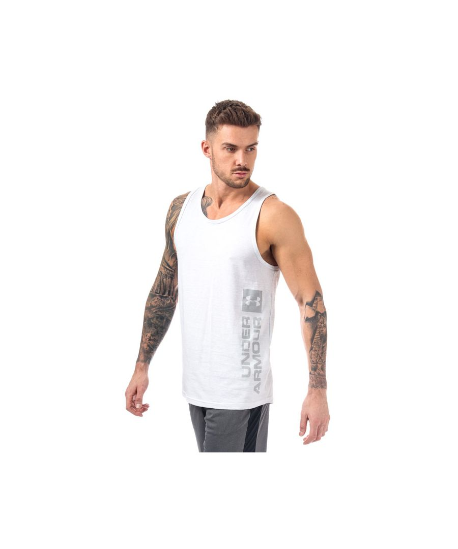 Image for Men's Under Armour UA Sportstyle Graphic Tank in White