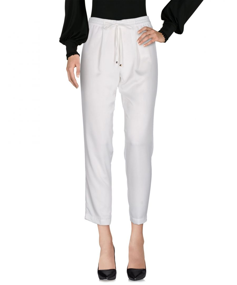 Image for Donatella De Paoli White Polyester Casual trousers