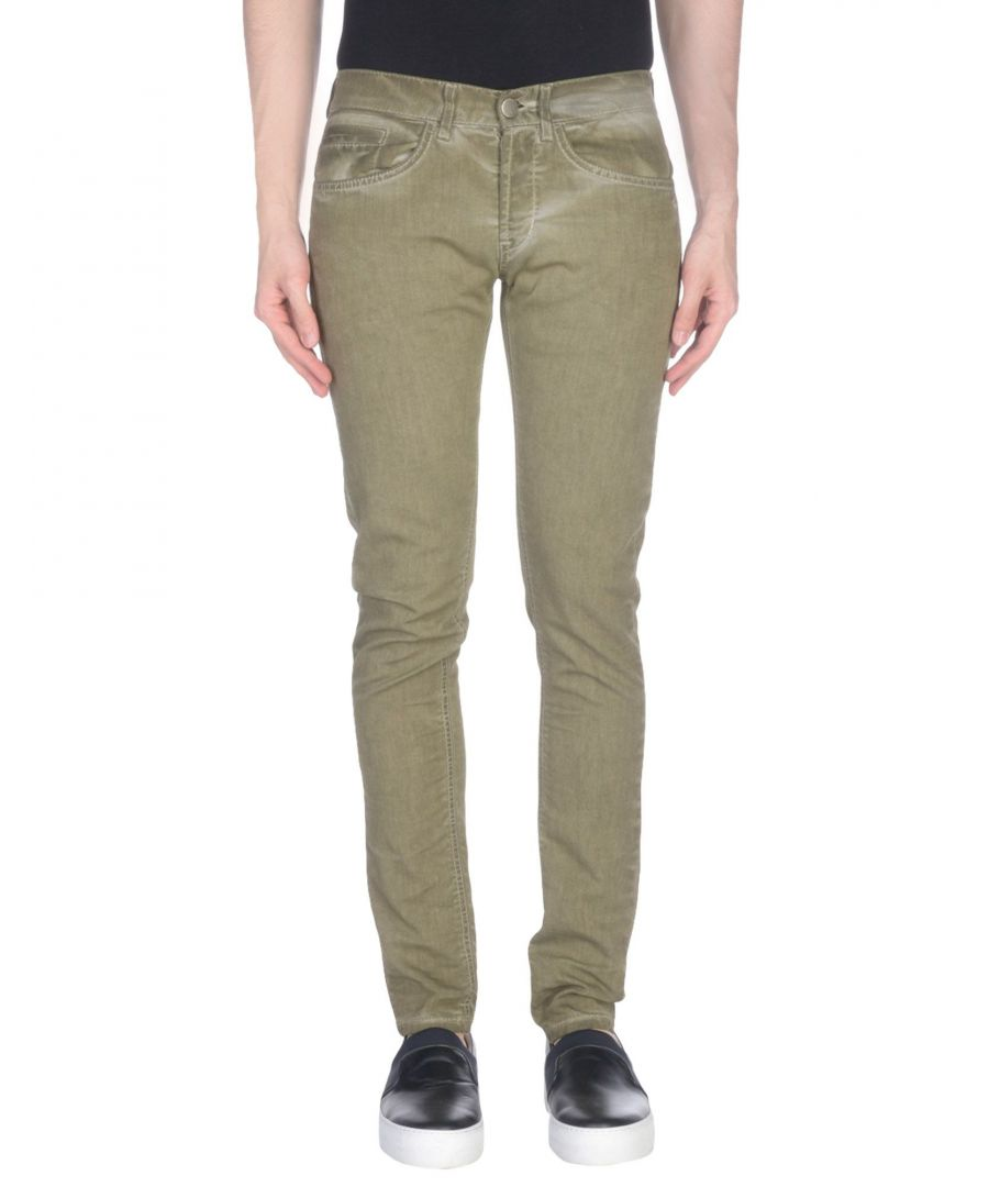 Image for Dondup Military Green Cotton Jeans
