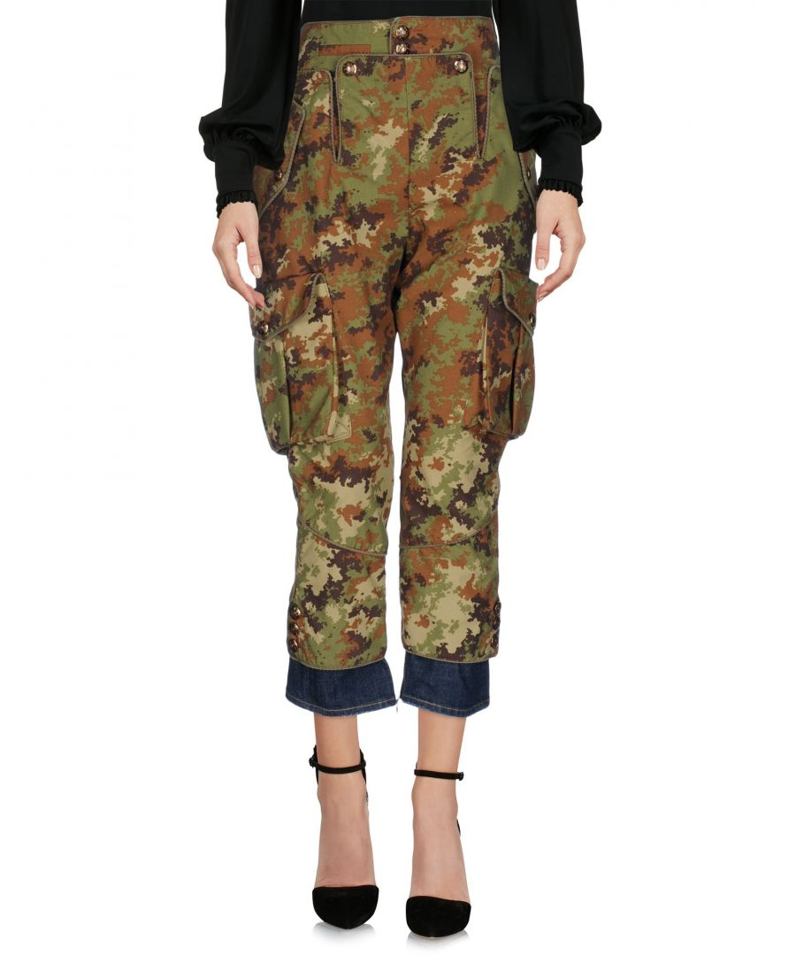 Image for Dsquared2 Military Green Cropped Trousers