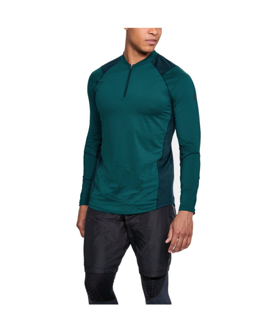 Image for Under Armour Mens Mk1 1/4 Zip Heatgear Comfy Long Sleeve Running Top