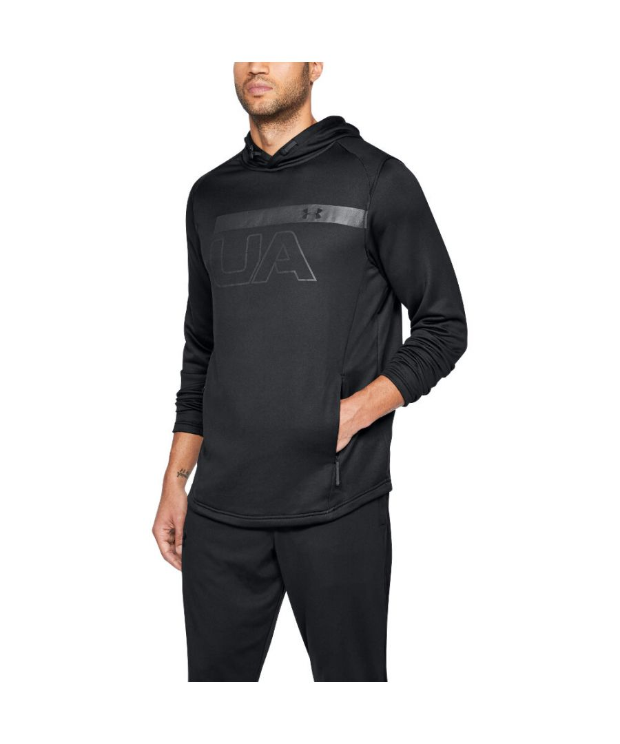 Image for Under Armour Mens Mk1 Terry Graphic Lightweight Running Hoodie Sweater