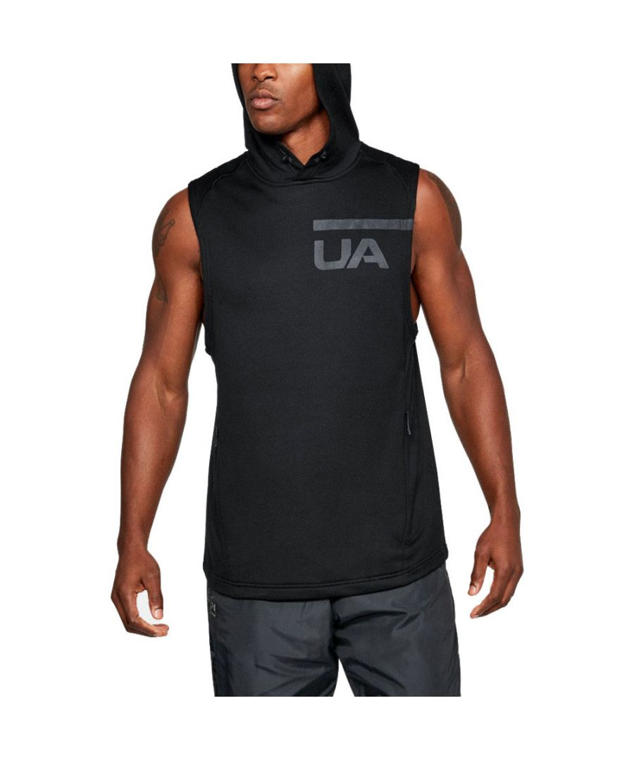 Image for Under Armour Mens Mk1 Terry Sleeveless Running Sport Vest T Shirt Top