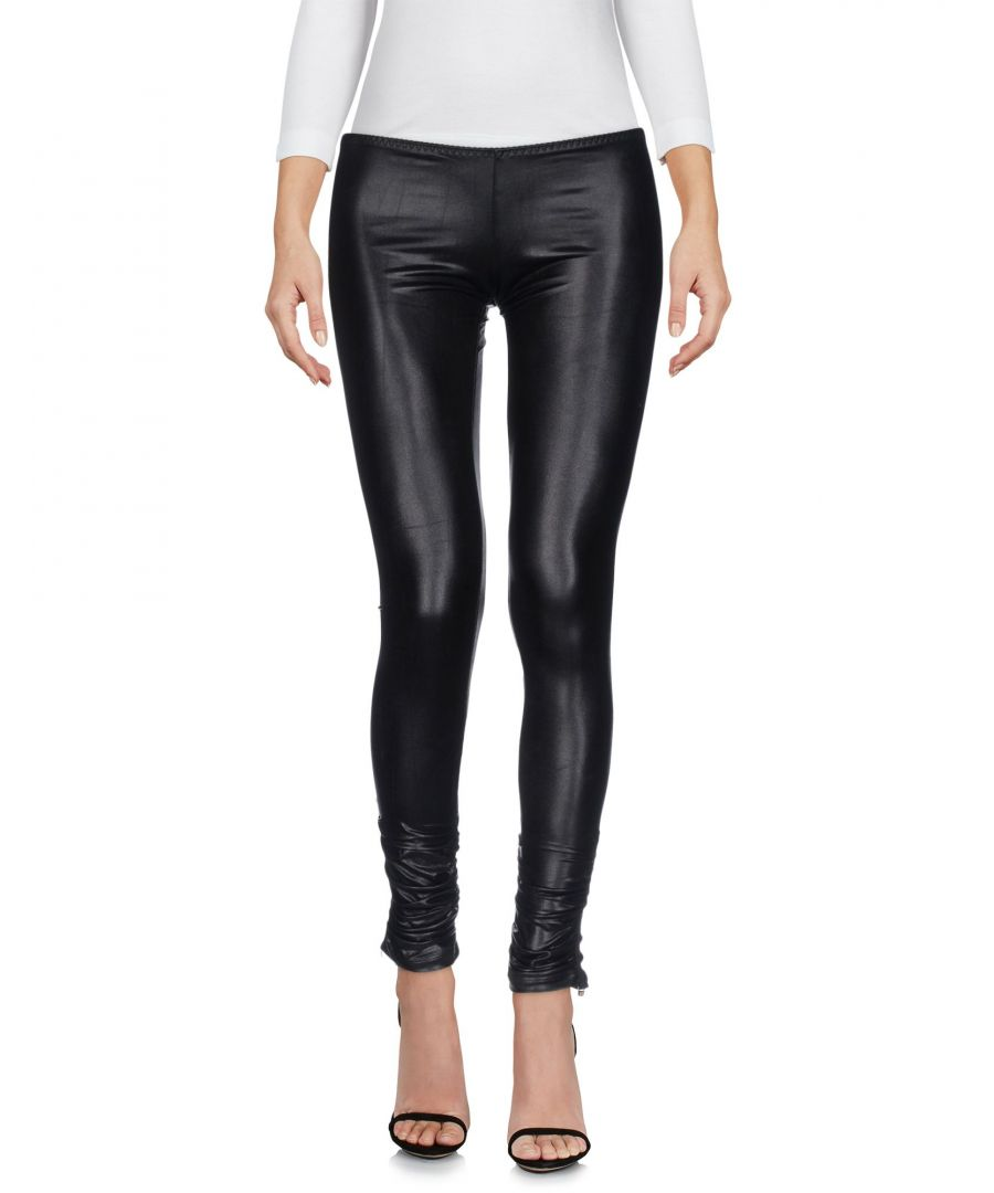 Image for Elisabetta Franchi For Celyn B. Black Faux Leather Trousers