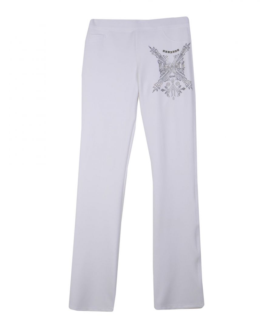 Image for Versace White Studded Lounge Bottoms
