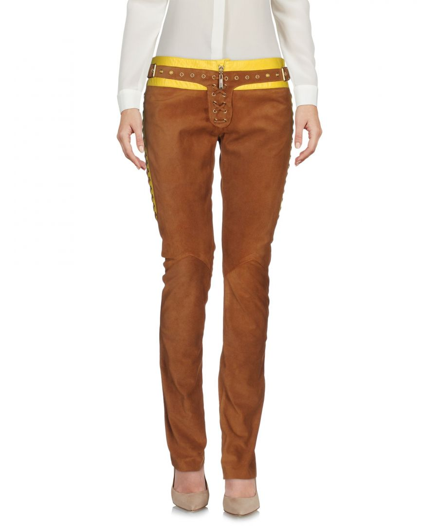 Image for Just Cavalli Brown Bovine Casual Trousers