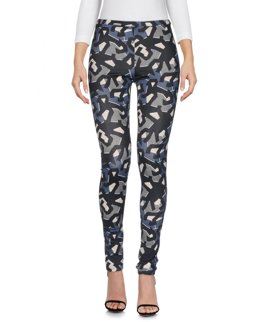 Image for Just Cavalli Black Pattern Slim Fit Tapered Leg Trousers