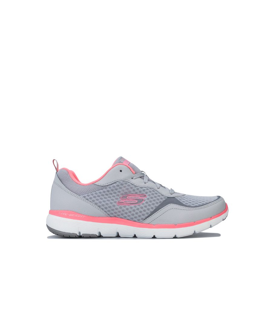 Image for Women's Skechers Flex Appeal 3.0 Go Forward Trainers in Light Grey