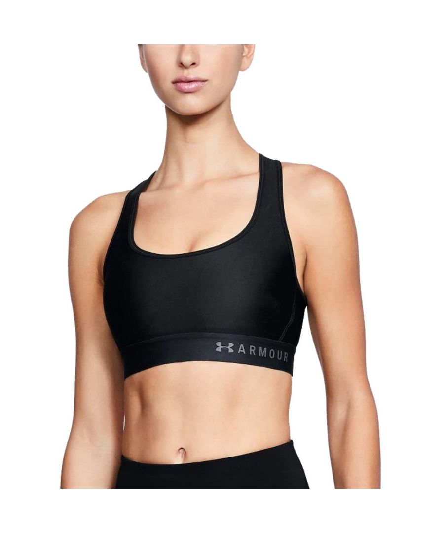 Image for Under Armour Womens Armour Mid Crossback Wicking Sports Bra