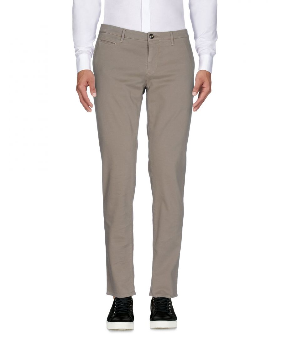Image for Siviglia White Grey Cotton Casual trousers