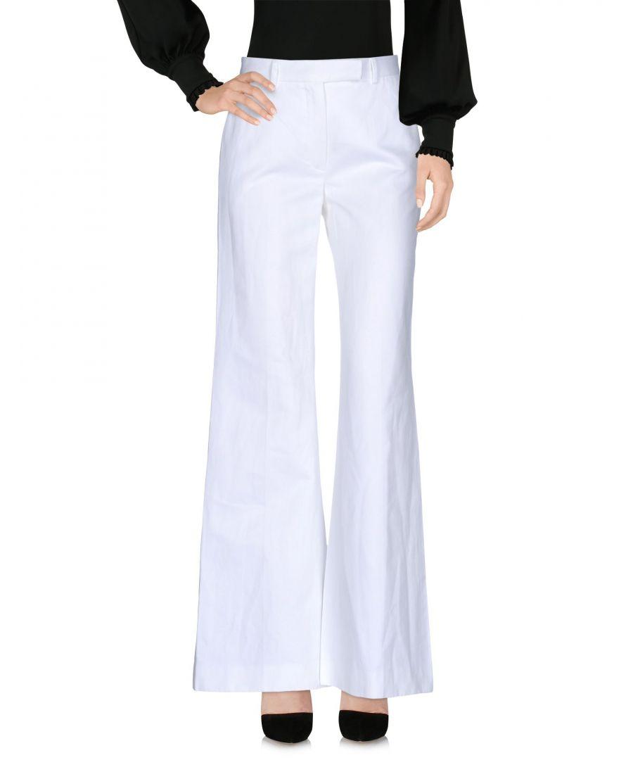 Image for Boule De Neige White Cotton Wide Leg Trousers