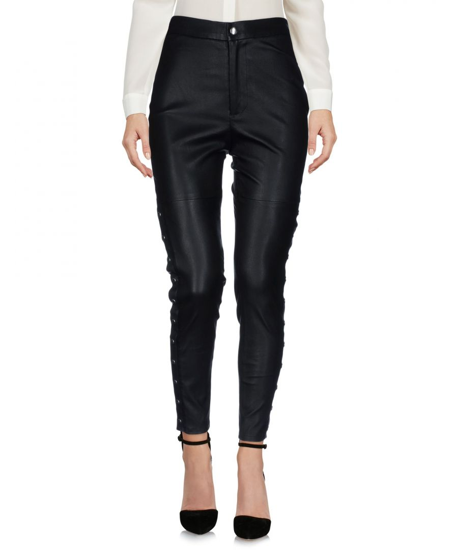 Image for Iro Black Lambskin Leather Trousers