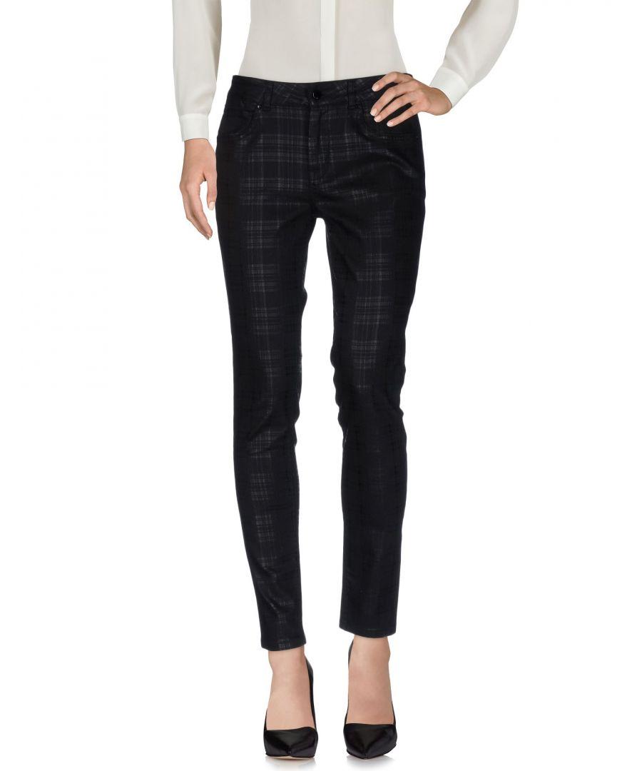 Image for Karen Millen Black Cotton Tapered Leg Trousers
