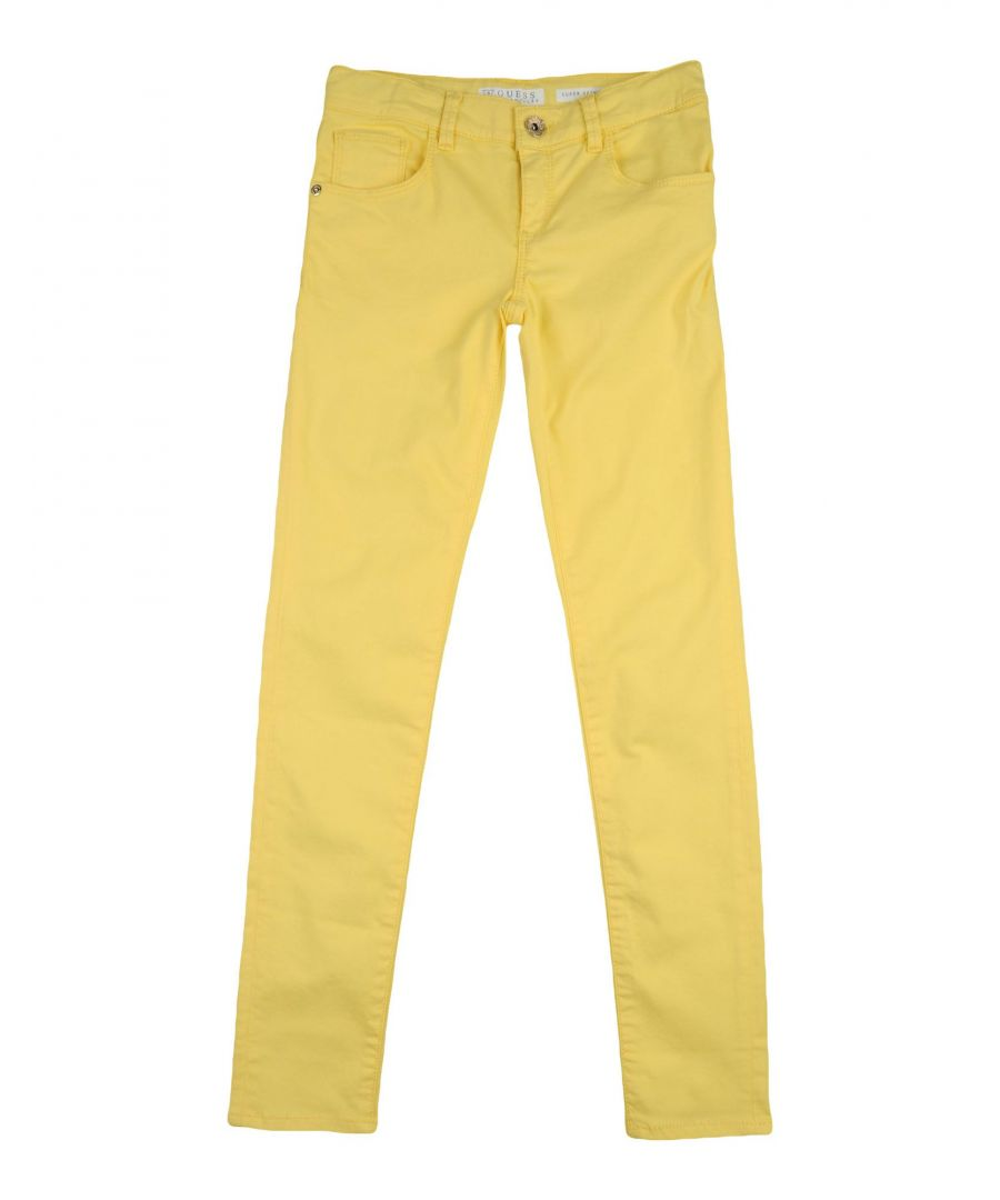Image for Guess Yellow Girl Cotton Trousers