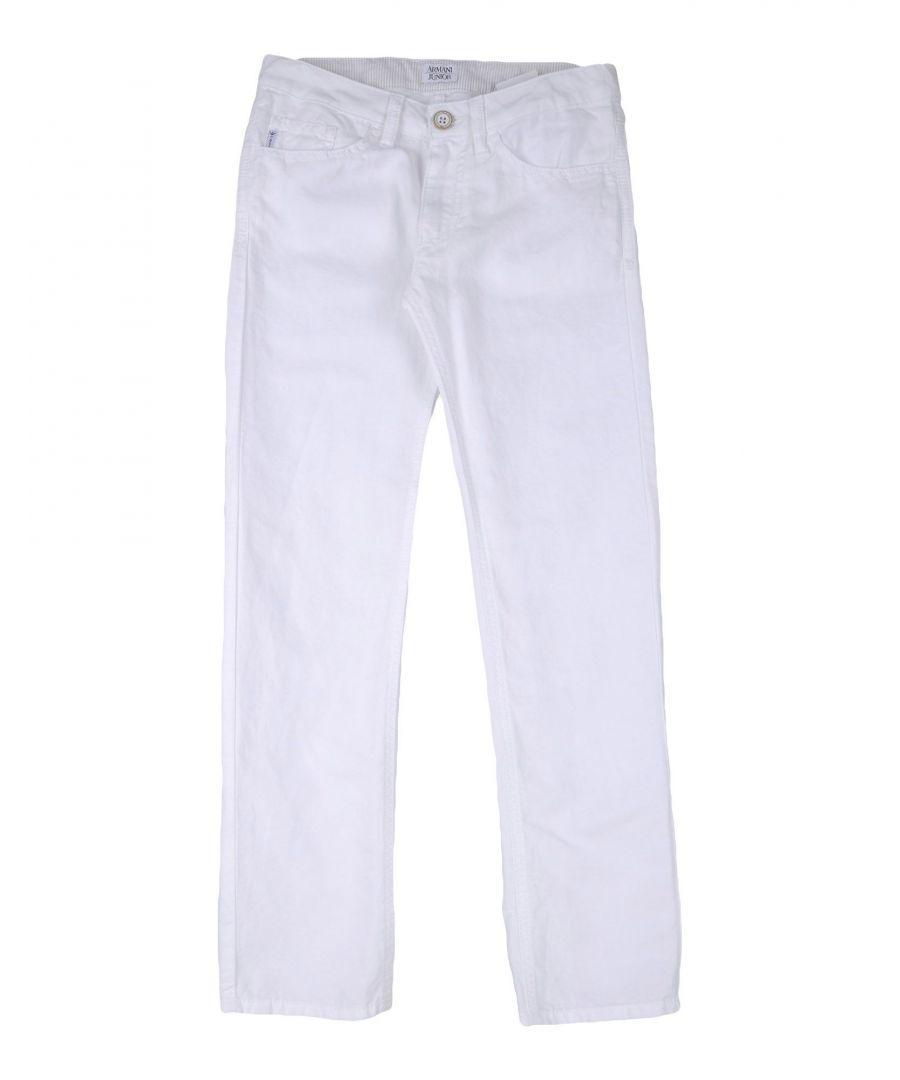 Image for Armani Junior White Boy Cotton Trousers
