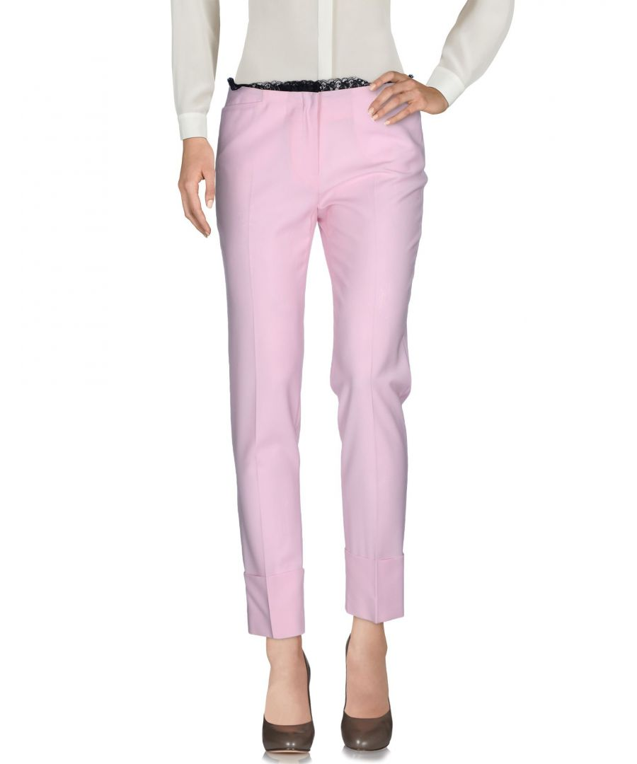 Image for John Richmond Pink Virgin Wool Trousers