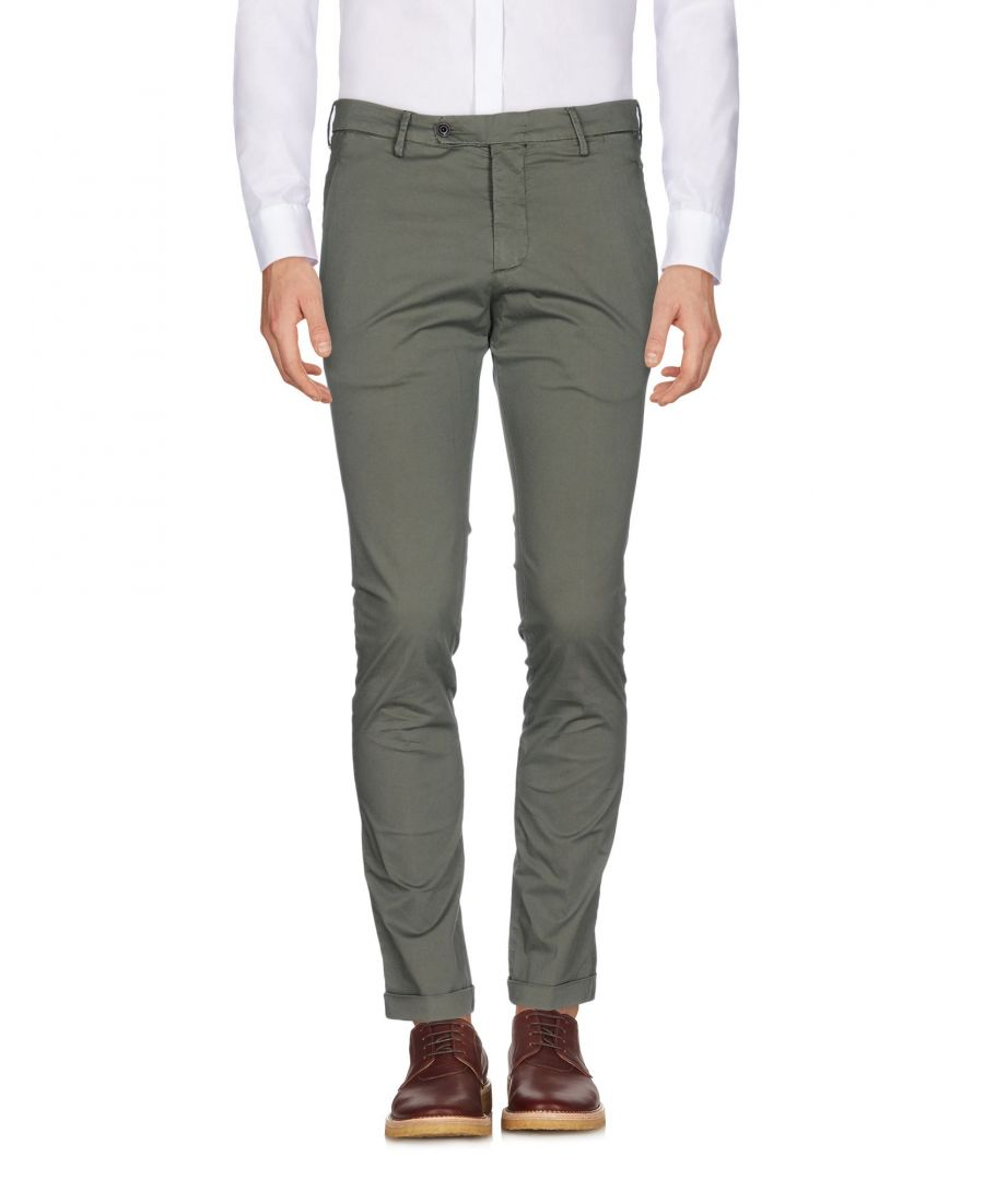 Image for Michael Coal Military Green Cotton Tapered Leg Trousers