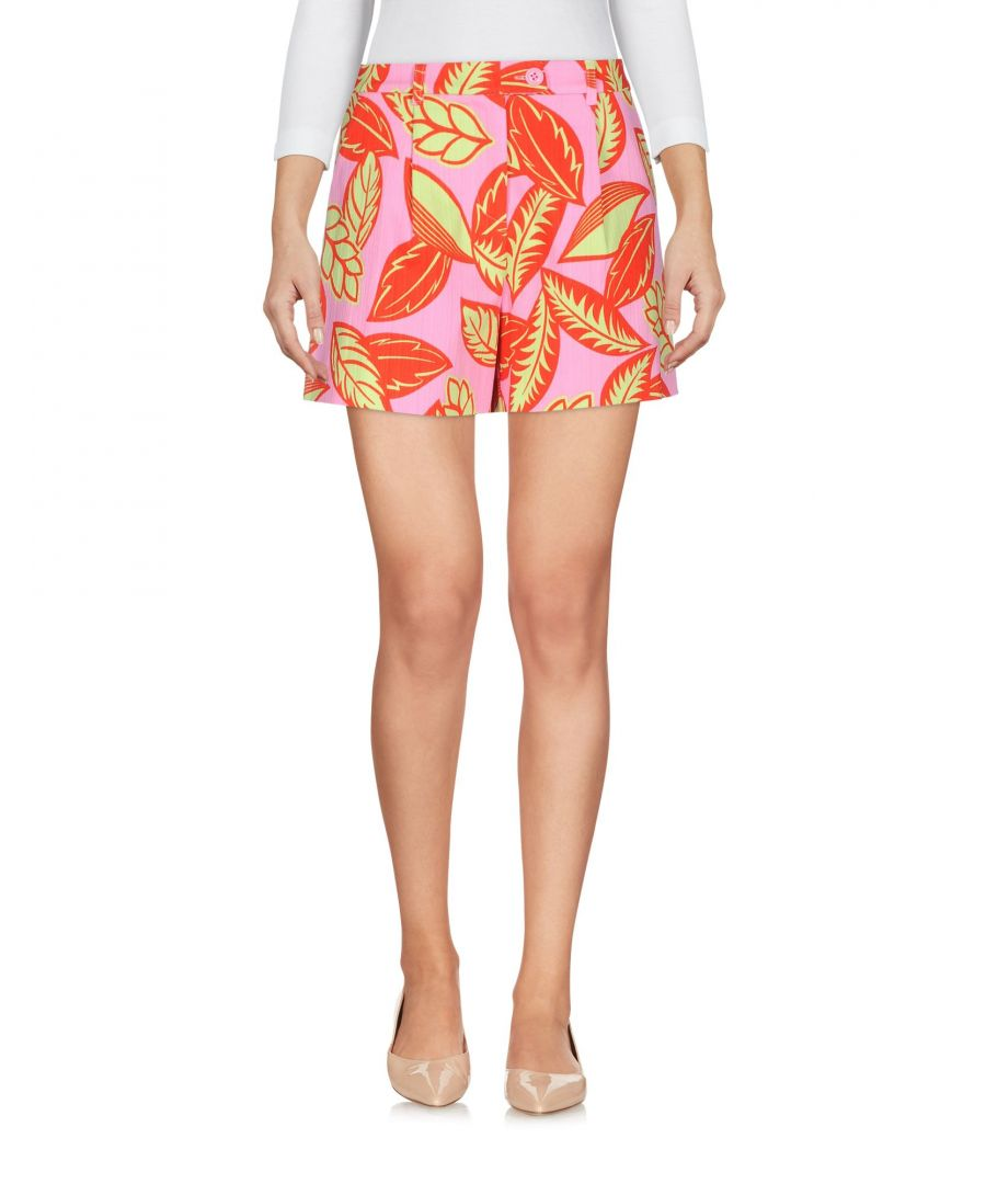 Image for Boutique Moschino Pink Floral Print Cotton High Waisted Shorts