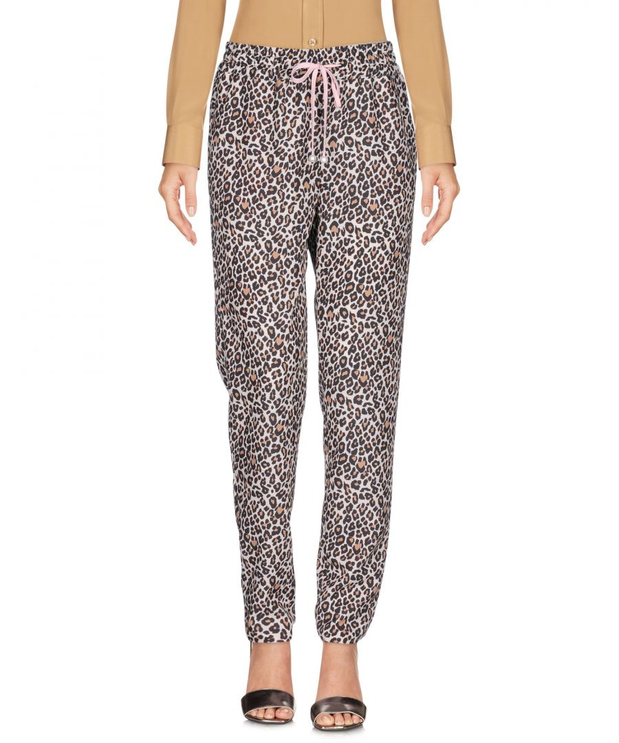 Image for Atos Lombardini Ivory Leopard Print Trousers
