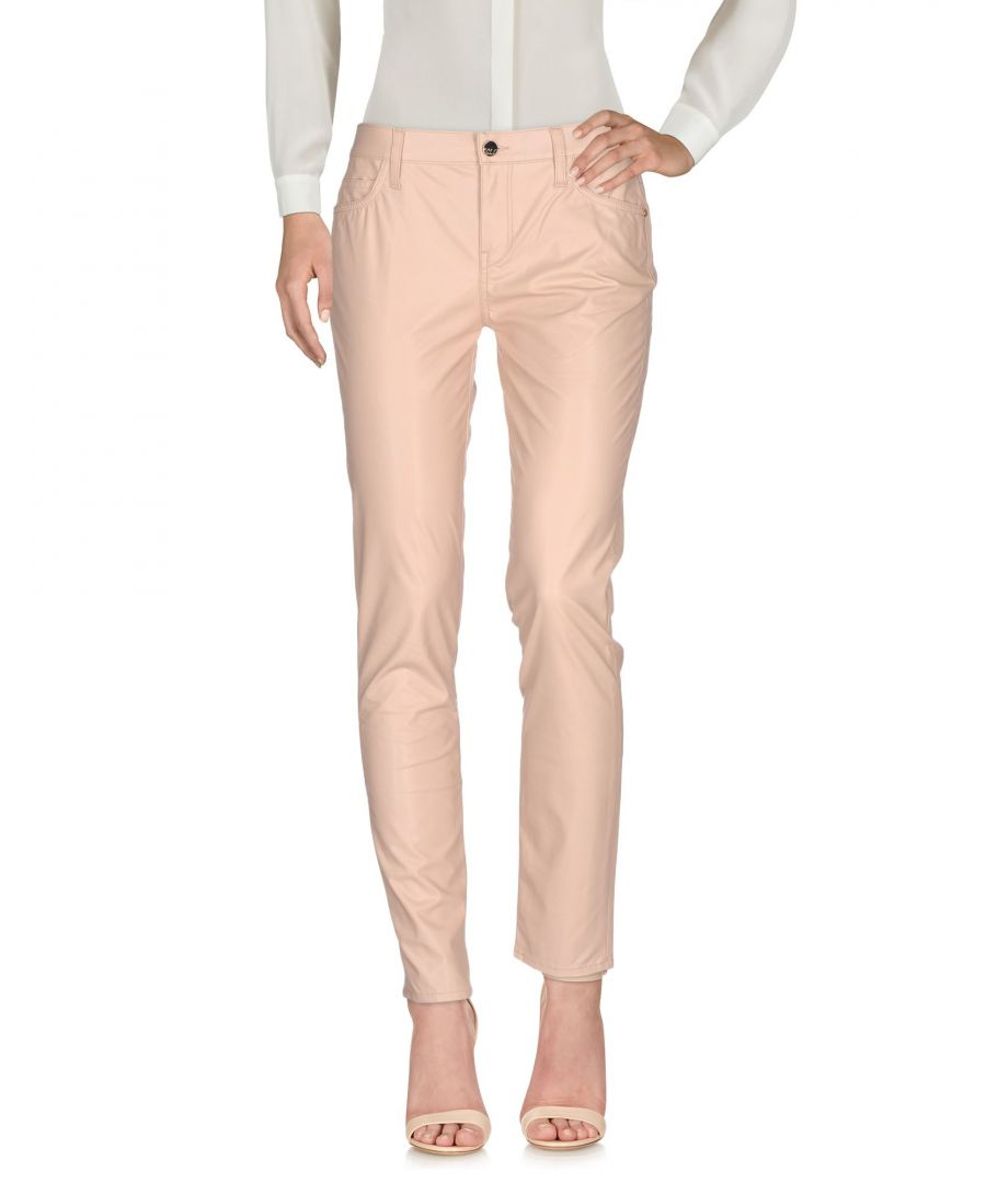 Image for Kaos Jeans Pale Pink Faux Leather Trousers