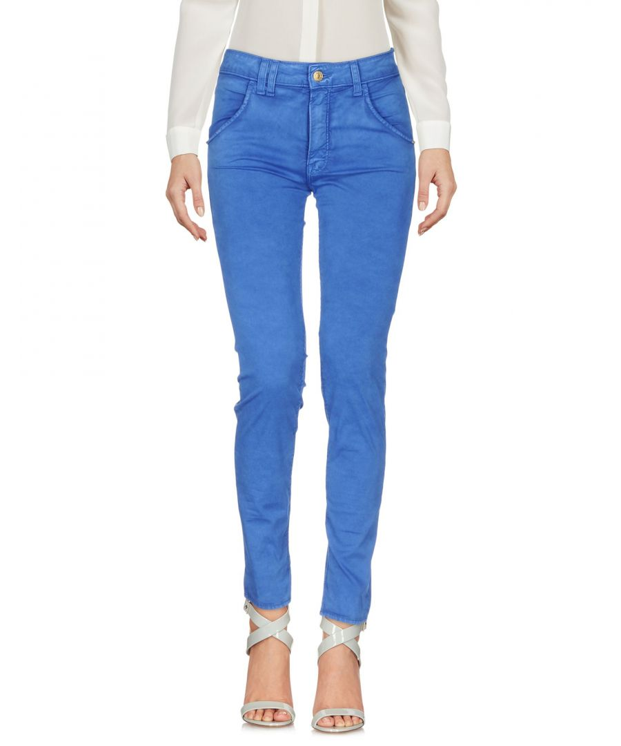 Image for Cycle Blue Cotton Tapered Leg Trousers