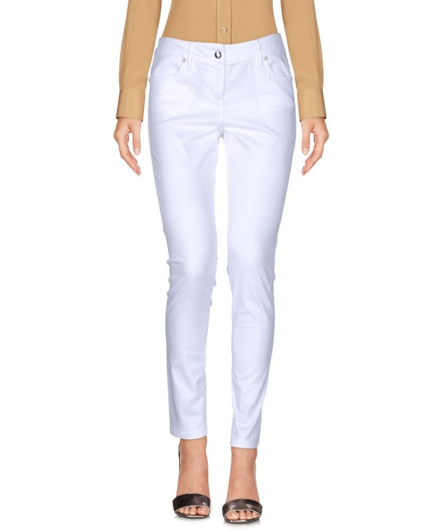 Image for La Kore White Cotton Trousers