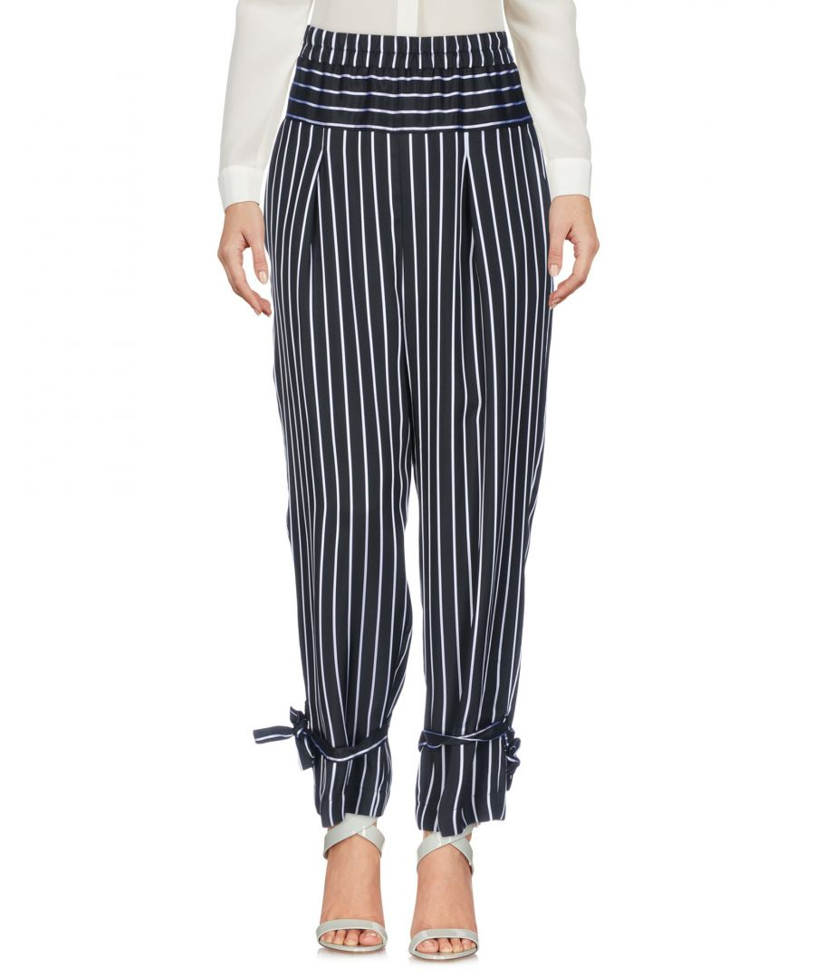 Image for Pinko Black Stripe Wide Leg Trousers