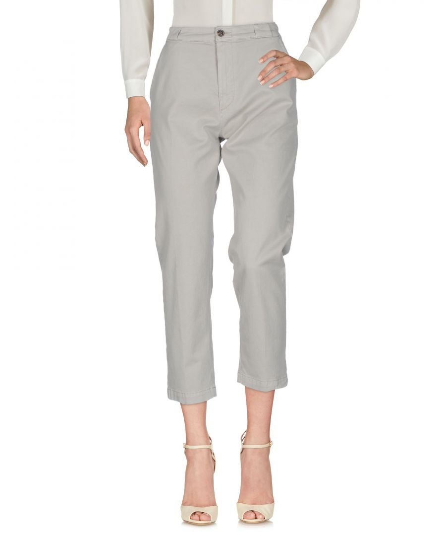 Image for True Nyc Light Grey Cotton Cropped Trousers