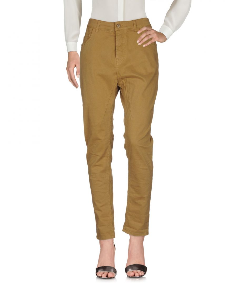 Image for TROUSERS Manila Grace Denim Military green Woman Cotton