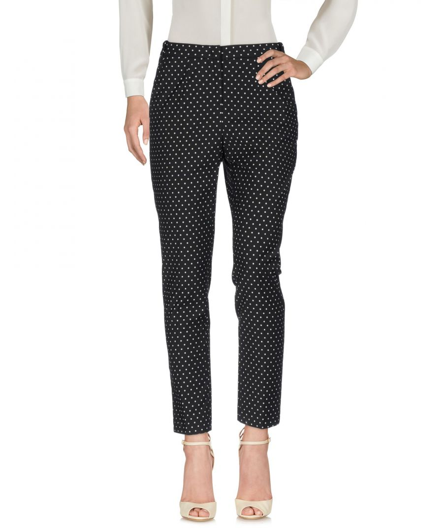 Image for Pinko Uniqueness Black Polka Dot Cotton High Waisted Tapered Leg Trousers