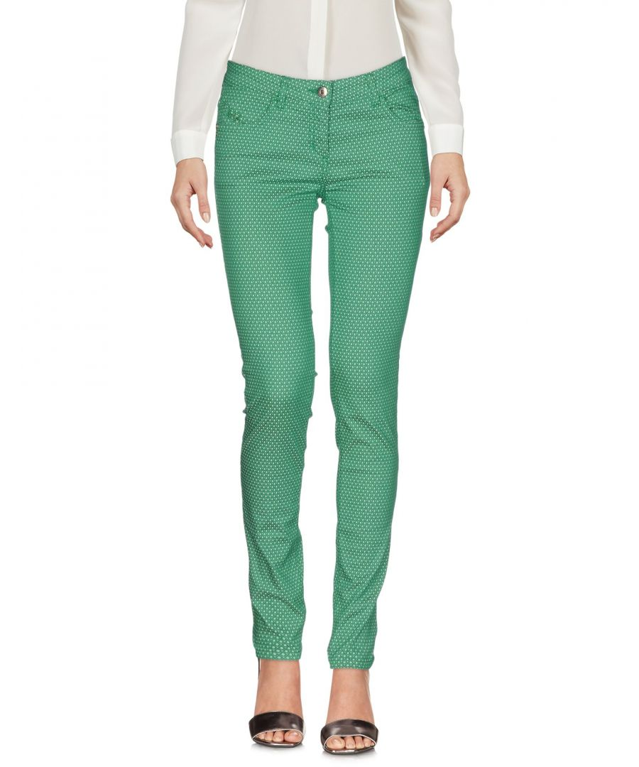 Image for Pepe Jeans Green Cotton Tapered Leg Trousers